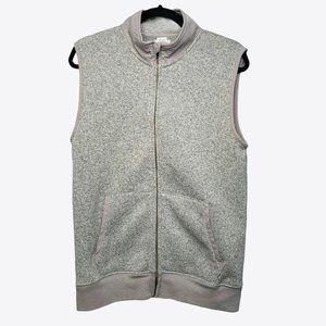 Crewcuts Marled Gray Full Zip Up Vest Size 16